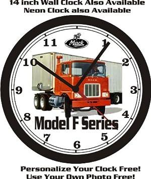 MACK MODEL F SERIES TRUCK WALL CLOCK-FREE USA SHIP