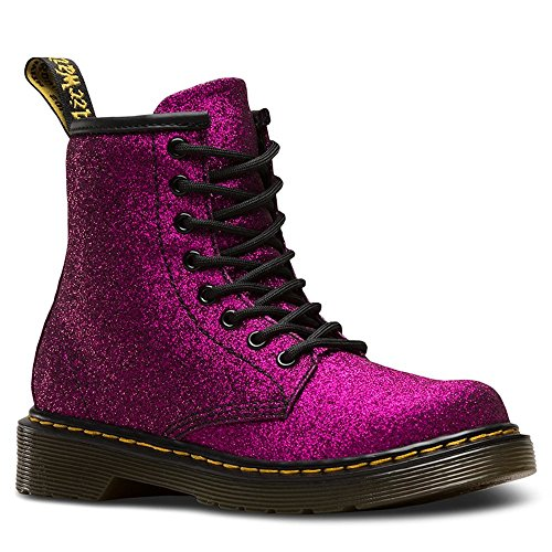 Dr. Martens Girls Delaney Gltr Junior Lace Boot, Size: 12 M US Little Kid/11 F(M) UK Youth, Color Purple Glitter Pu