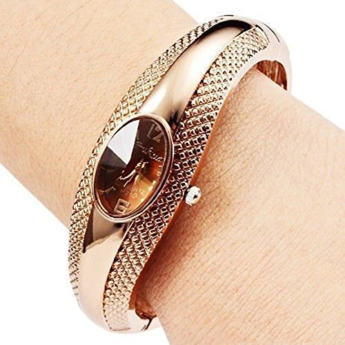 Soleasy Women's Girl's Fashion Golden Br - Bracelet Ladies Wrist Watch Shopping Results