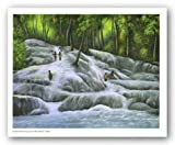 Dunns River Falls by Geo Smith - 24 x 32 inches - Fine Art Print / Poster