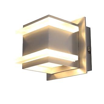 LED Design Wandleuchte Flur Leuchten Chrom Wohn Zimmer Lampen Wandlampe UP Down