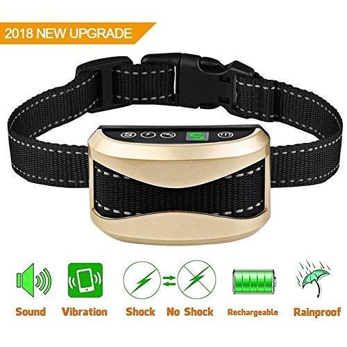 - Bark Collar [New Upgrade 2018]No Bark Collars Dog with Beep Vibration and Harmless Shock,7 Adjustable Sensitivity & Intensity Levels,USB Rechargeable Humane Anti Bark Collar for Small Medium Large Dog