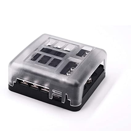 amazon com 6 way fuse block w negative bus joyho atc ato fuse box rh amazon com