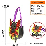HOMEE Section of Halloween Handbags Diy Sweets Gift Bag Children Props Pumpkin Bat Spectre Skeleton ,Diy Witch Hand Bag,Diy
