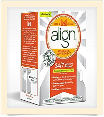 Align Digestive Care Probiotic Supplement (98 Count) New Look Pack by Align