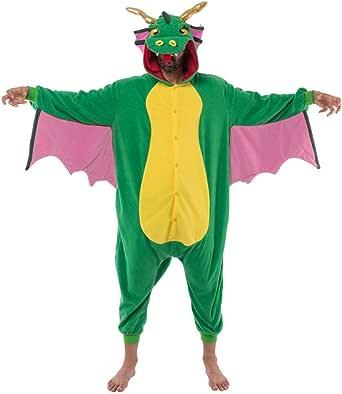 Spooktacular Creations Disfraz de Dragón para Unisex Adulto Pajamas Animal Mono con Capucha Ropa de Dormir
