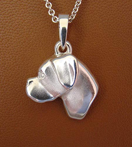 Large Sterling Silver Boxer Head Study Pendant