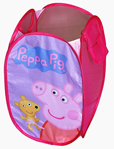 Peppa Pig Pop up Hamper Laundry Basket Toy Portable Storage