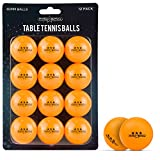PRO SPIN Table Tennis Balls – Professional 40mm Ping Pong Balls for All Players – 12-Pack in White or Orange
