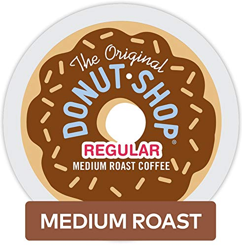 - The Original Donut Shop Keurig Single-Serve K-Cup Pods, Regular Medium Roast Coffee, 72 Count