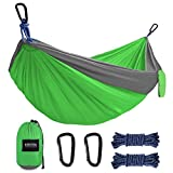 Kootek-Camping-Hammock-Portable-Indoor-Outdoor-Tree-Hammock-with-2-Hanging-Straps-Lightweight-Nylon-Parachute-