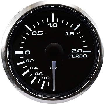 AEM X Series Boost Pressure Gauge 30in//Hg~35PSI Black Bezel Black Face 30-0306