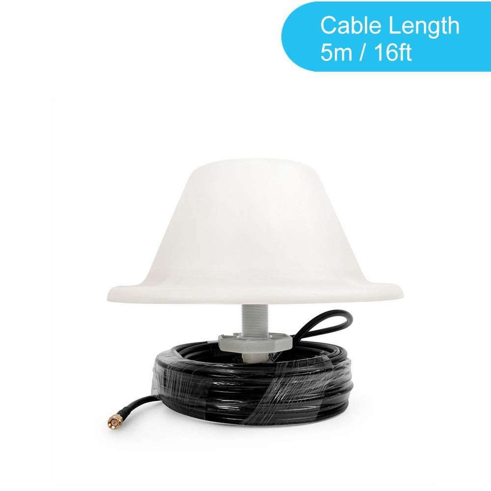 698-2700 MHz, SMA-male, 5m Cable Wide Band Omni-Directional LTE Internal Ceiling Mount Dome Antenna