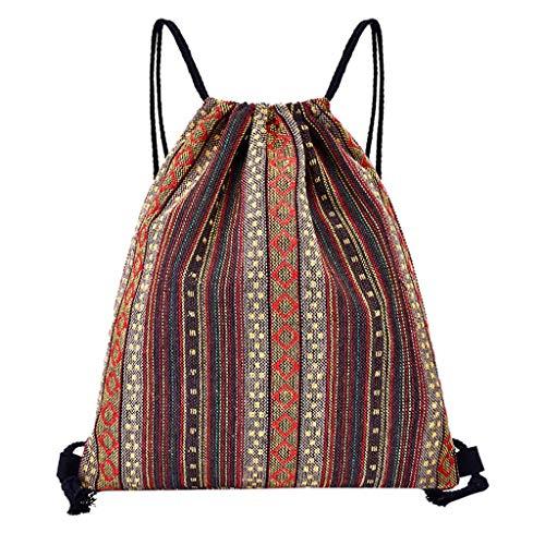 Drawstring Printing Backpack Fitness Bag Women Sports Bundle Pocket Beach Bag Backpack for Women Men Waterproof by Letdown (Image #1)