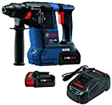 Cheap Bosch GBH18V-26K24 18V EC Brushless 1″ SDS-plus Bulldog Rotary Hammer Kit with CORE18V 6.3 Ah Batteries, Blue