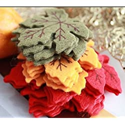 Fall Maple Leaves Felt Table Scatter 20 Count