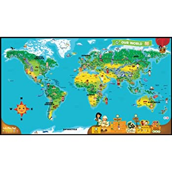 Amazoncom LeapFrog LeapReader Interactive World Map Works With - World interactive map