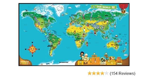Amazon leapfrog leapreader interactive world map works tag amazon leapfrog leapreader interactive world map works tag toys games gumiabroncs Gallery