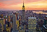 New York City (Empire State Building, Sunset) Art Poster Print 36 x 24in