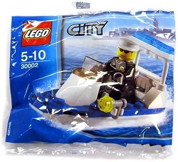lego city police bateau jeu de construction 30002 dans un sac - Lego City Bateau