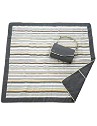 JJ Cole  Outdoor Blanket,Gray/Green, 5' x 5' BOBEBE Online Baby Store From New York to Miami and Los Angeles