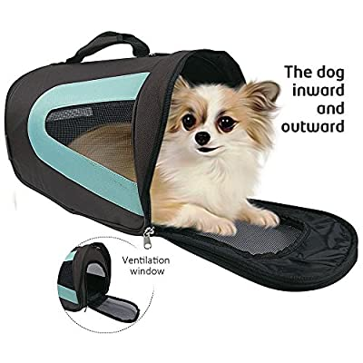 Soft Sided Dog Carrier , Pet Travel Portable Bag Home for Dogs,Suitable for Small Pets (Skyblue)