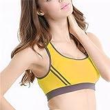 Arrival Racerback Crop Tops Stretch Vest Bras Shapewear Underwear Bras Yellow D