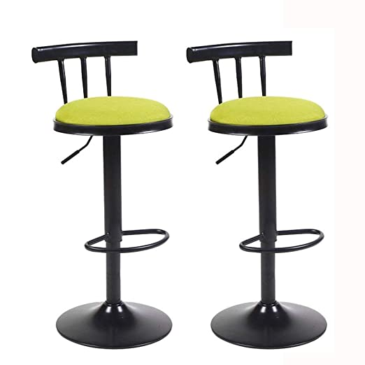 Taburete de Bar Juego de 2 sillas de Desayuno con Respaldo ...