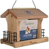 Woodlink NARANCH3 12-Inch Audubon Cedar Ranch Wild Bird Feeder, Large
