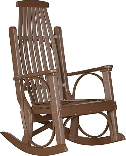 LuxCraft Poly Grandpa s Rocker Chestnut Brown