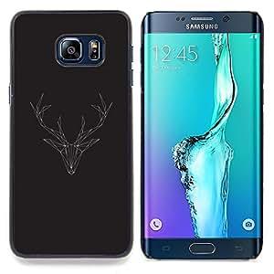 SKCASE Center / Funda Carcasa protectora - Antlers Polígono de Navidad - Samsung Galaxy S6 Edge Plus / S6 Edge+ G928