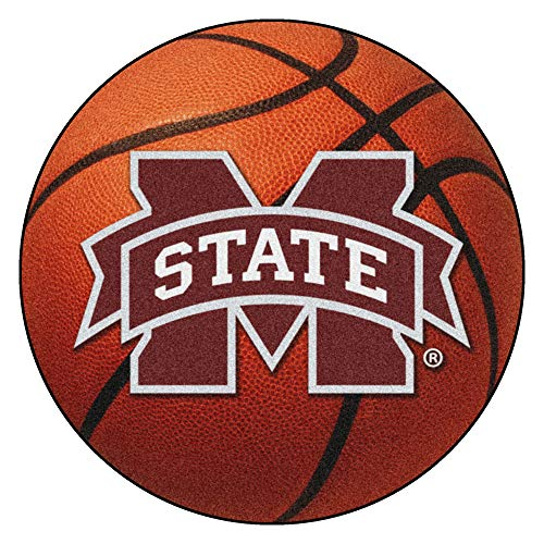 FANMATS NCAA Mississippi State University Bulldogs Nylon Face Basketball Rug ()
