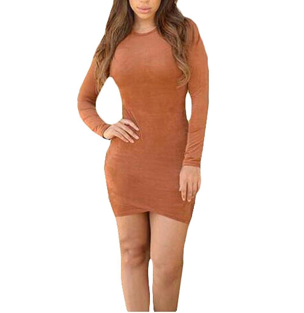 cnWay Gamuza falda delgada de la cadera del paquete vestido de ...