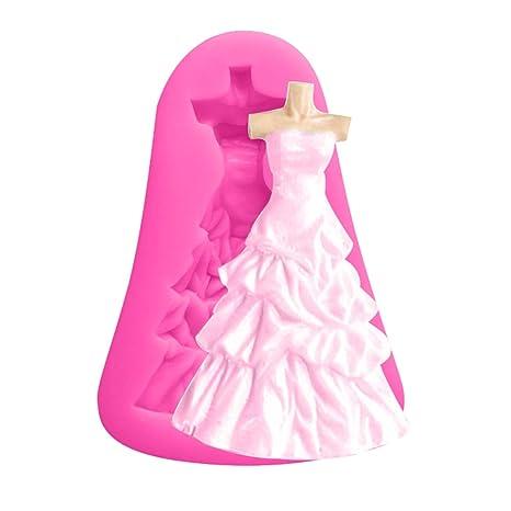 Luwu-Store Vestido de Boda Forma Molde de Chocolate de Silicona Herramientas de decoración de