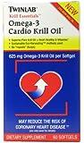 Twinlab Krill Essentials Omega-3 Cardio Krill Oil - 60 SoftGels, Pack of 2