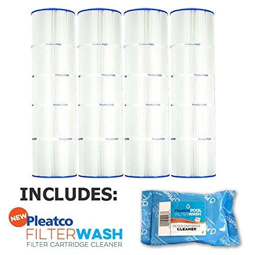 Pleatco Cartridge Filter PCC105-PAK4 Pack of 4 Pentair Clean & Clear Plus 420 Waterway CW425 C-7471 w/ 1x Filter Wash