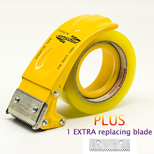 d 2 Inch Tape Gun Dispenser Packing Packaging Sealing Cutter Yellow ()