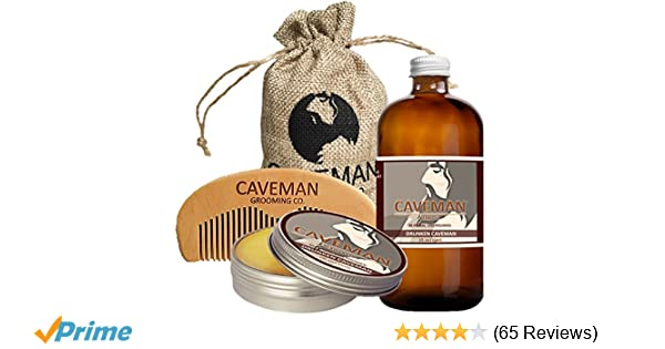 Free Comb Without Return Aftershave & Pre-shave Strong-Willed Hand Crafted Caveman Choose Your Own 3 Scents Beard Oil Conditioner