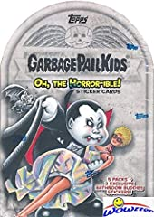 Wowzzer!! We are Proud to offer this Brand New 2018 Topps Garbage Pail Kids Series 2 OH THE HORROR-IBLE EXCLUSIVE Factory Sealed Value Box! This Factory Sealed Box contains (5) Packs of Garbage Pail Kids Sticker Cards and 8 Cards Per Pack for...