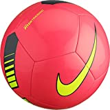 Nike Pitch Training Soccer Ball Hyper Pink/Black/Volt Size Size Five Ball