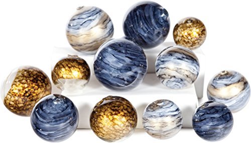Knox and Harrison Set of 12 Decorative Hand Blown Glass Spheres