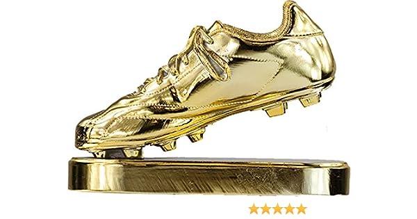 RegalosDeBodaOnline Trofeo réplica Bota de Oro Personalizado Grabado trofeos Deportivos fútbol: Amazon.es: Deportes y aire libre