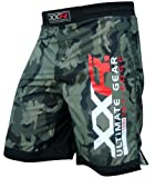 XXR Camo Pro MMA Fight Shorts Camouflage UFC Cage Fight Grappling Muay Thai Boxing Kickboxing Army Colour Two Options Green Camouflage or Urban-Grey Camouflage