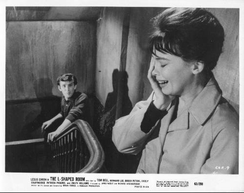 National Screen Service Corp THE L-SHAPED ROOM: Movie Advertizing Photograph of Leslie Caron and Tom Bell (LSR-9)
