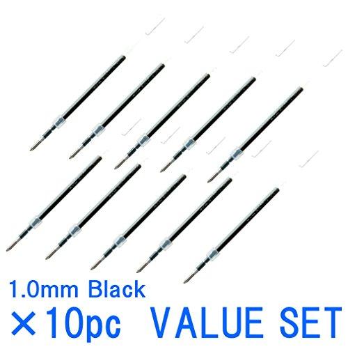 Free Uni-ball Jetstream Fine Point Roller Ball Pens Refills for Standard Pen Type -1.0mm-black Ink-value Set of 10 ...