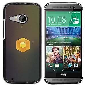 TaiTech / Prima Delgada SLIM Casa Carcasa Funda Case Bandera Cover Armor Shell PC / Aliminium - Cubo simple - HTC ONE MINI 2 / M8 MINI