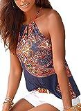 #3: Astylish Women's Summer Floral Print Sleeveless Spaghetti Strap Cami Tank Tops