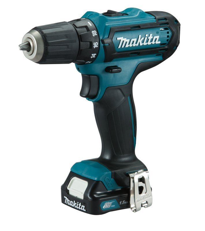 Makita DF331DWAE 10.8 V Li-ion CXT Combi Drill Complete with 2 x 2.0 Ah Li-ion Batteries and Charger in a Carry Case