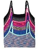 Caramel Cantina 6 Pack Big Girls Seamless Training Bras (Medium, 6PK Sporty)