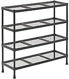 "Sandusky CSR311031 Gray Combination Wire Shelving Unit, 4 Shelves, 31"" Height x 31"" Width x 11"" Depth"